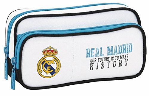 Real Madrid estuche, real madrid, estuches dos cremalleras, estuches para niños