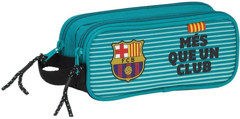 Estuche Barça, estuche dos cremalleras, estuches doble, estuche escolar